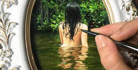 "Oil Painting Time Lapse | ""Secret Oasis"""