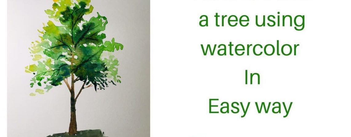 HOW TO PAINT A TREE IN WATERCOLOR/EASY TUTORIALS/REAL TIME #beginners #watercolor