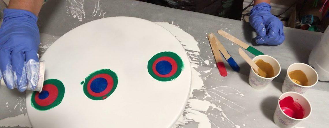 Resin Pigment Canada Tutorials acrylic Christmas colour pours #Chromachaos