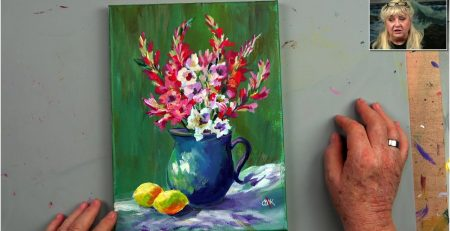 Premiere Lessons Acrylic Painting Tutorial for Beginner and Advanced Artists with Ginger Cook