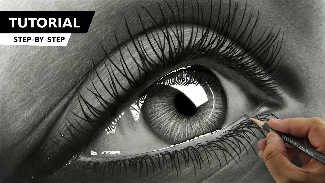 How to Draw Hyper Realistic Eye   Tutorial for BEGINNERS