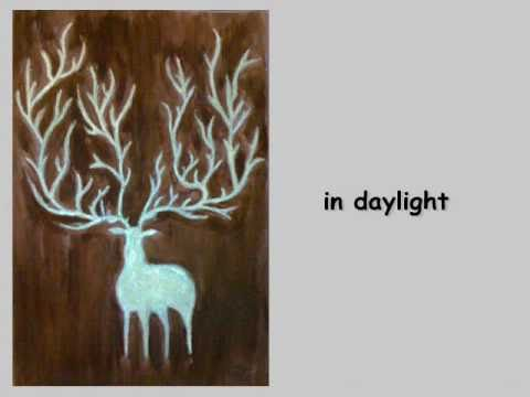 glow in dark painting tutorials