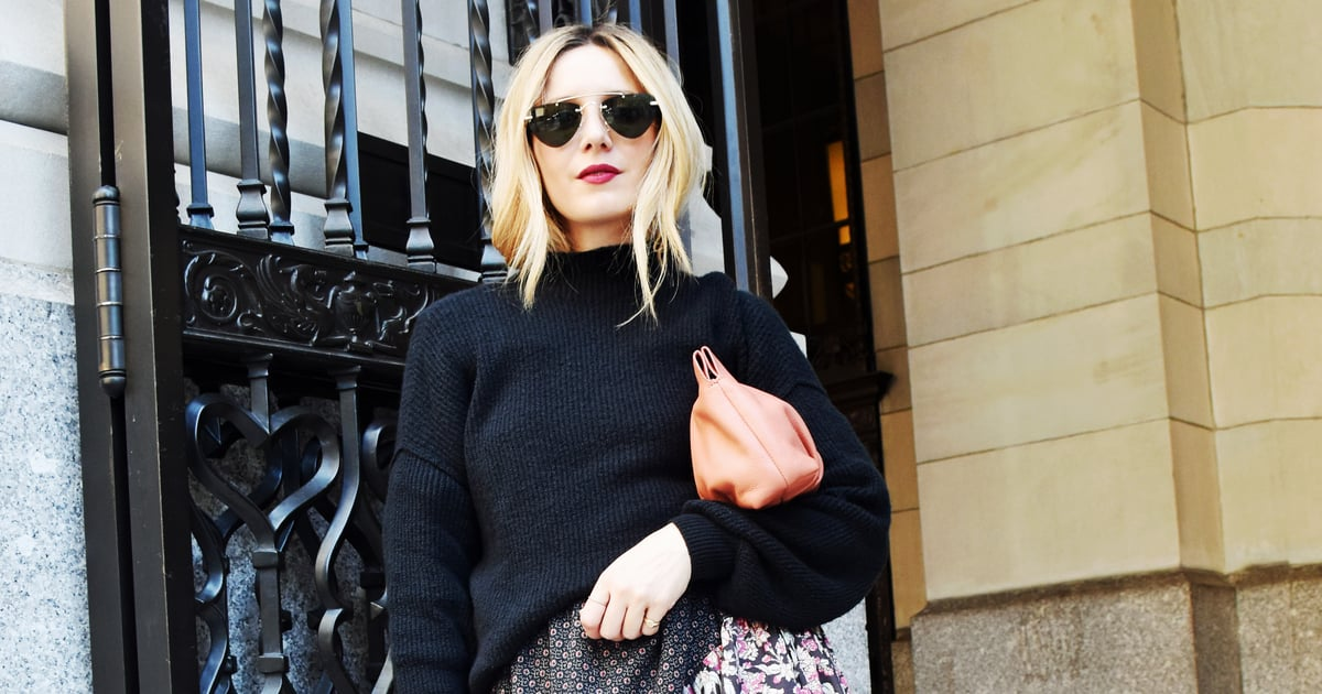 Easy Outfits: How to Layer a Simple Black Sweater Over a Dress