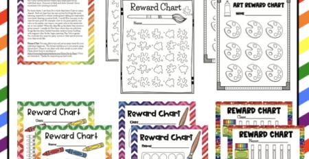Art Class Behavior Reward Charts