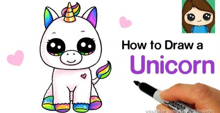 How to Draw a Baby Unicorn easy | Beanie Boos