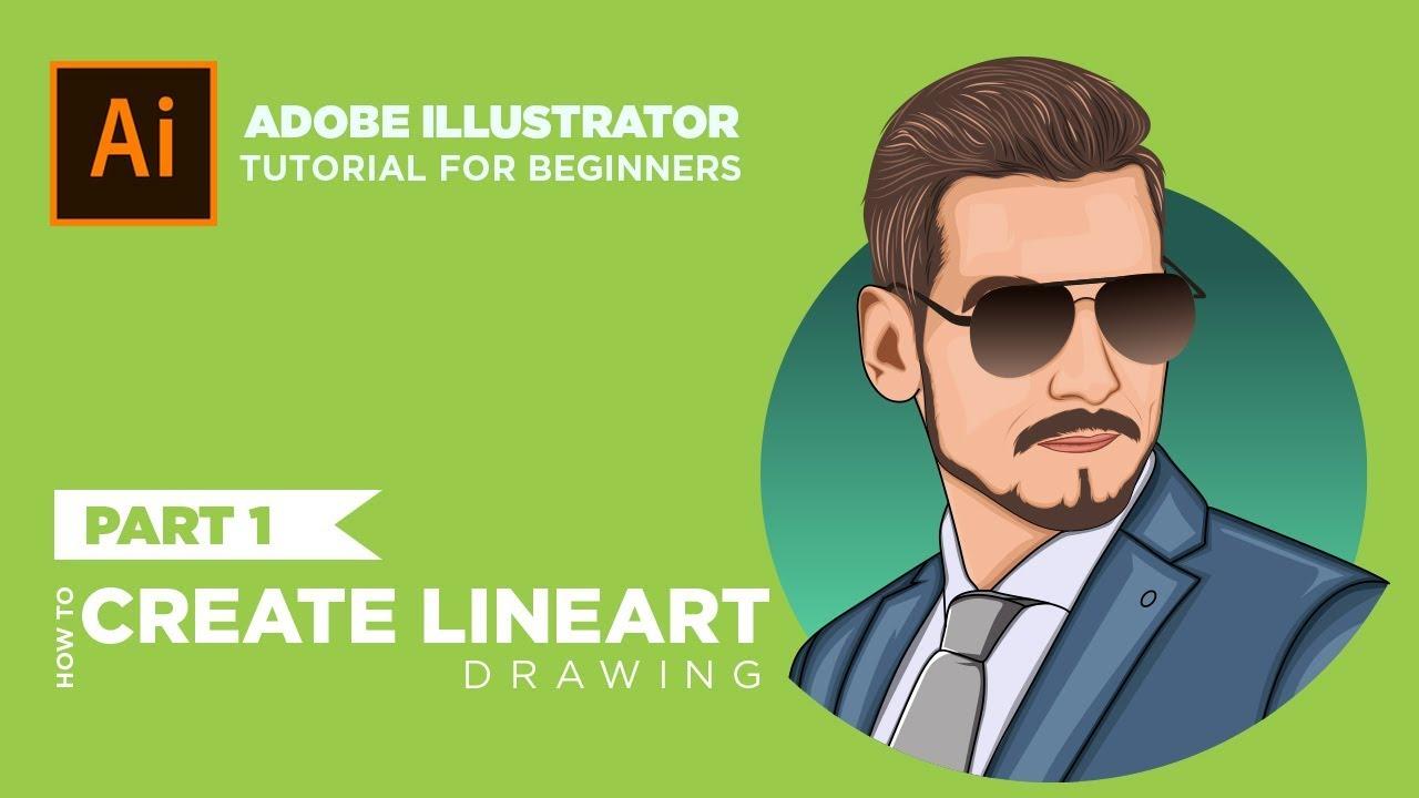Adobe illustrator tutorials: Photo to Vector Art - Cartoon Illustration
