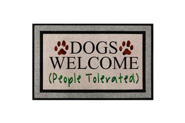 Dogs Welcome People Tolerated Doormat Main