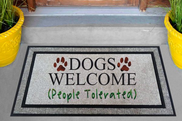 Dogs Welcome People Tolerated Mockup