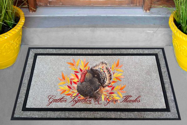 Gather Together and Give Thanks Doormat Mockup