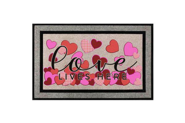 Love Lives Here Doormat Main