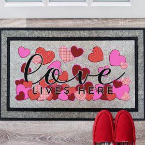 Love Lives Here Doormat Mockup