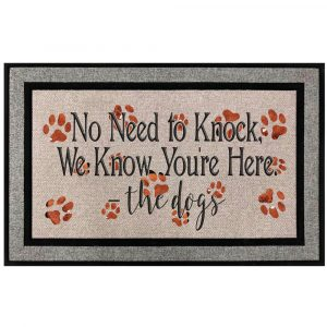 No Need To Knock Dogs Know Doormat Main
