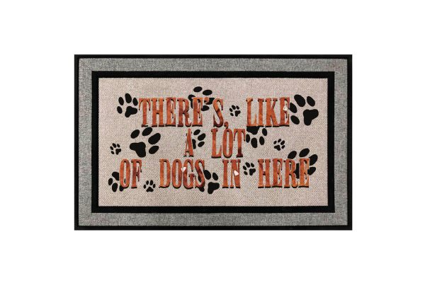 Theres Like A Lot of Dogs In Here Doormat Main