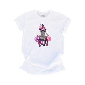 Boo Kitty White TShirt Plush Prints