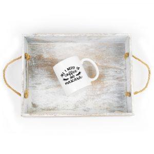 All I Need Is Coffee and Mascara Mug Plush Prints