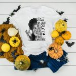 Assuming Im Just An Old Lady Split Winifred Black and White T Shirt Plush Prints