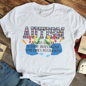 Autism Awareness Definition White Tshirt Plush Prints Flatlay 2
