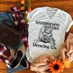 Sanderson Sisters Brewing Co Marble T Shirt FLatlay