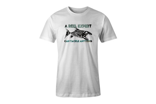 A Reel Expert White Tshirt Plush Prints Ghost2
