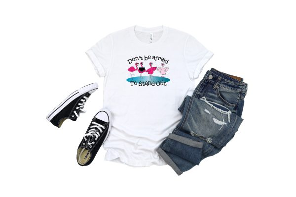 Dont Be Afraid To Stand Out White T Shirt Plush Prints
