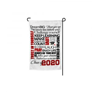 Dream Big Graduation Garden Flag Plush Prints