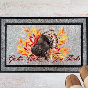 Gather Together and Give Thanks Welcome Doormat 1