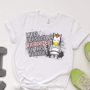 VICTIMIZED BY WORKOUT FITNESS UNICORN MOCKUP