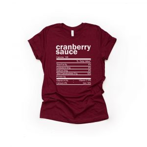 Cranberry Sauce Thanksgiving Ingredient Shirt