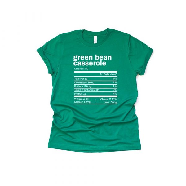 Green Bean Casserole Thanksgiving Ingredient Shirt