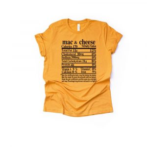 Macaroni and Cheese Thanksgiving Ingredient Shirt