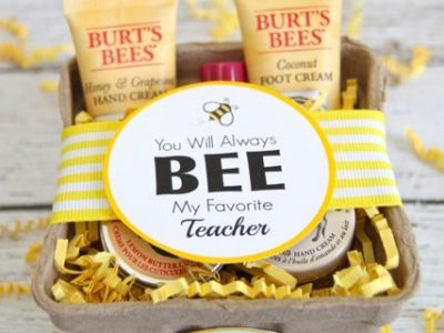 Burts Bees Teacher Gift Idea with Free Printable Tags