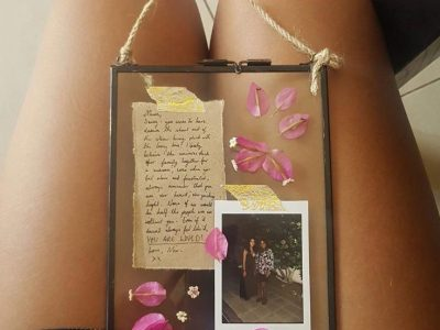DIY Hanging Glass Frame Memory Box Great Gift For Her