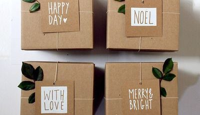 Geschenke schon verpacken mit Kraftpapier MrsBerry Kreativ Studio