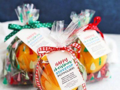 How to Make Stovetop Christmas Potpourri Free Printable Gift Tags