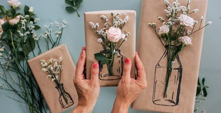 Try this Simple Floral Gift Wrapping — Clever Poppy