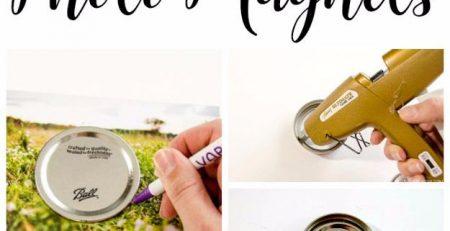 Upcycled Mason Jar Lid Magnets unOriginal Mom