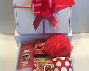 Valentines Day Birthday Thank You Gift Basket Hamper for Her
