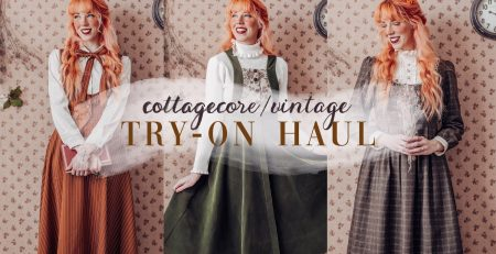 A Cottagecore amp Vintage Aesthetic Clothing Haul Try on