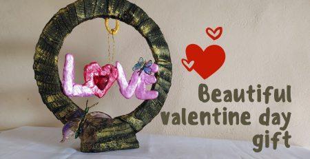 Beautiful handmade Valentine Day gift to herhimboyfriendgirlfrndhusbandwifeHandmade gift ideas