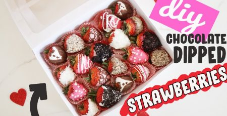 DIY Chocolate Dipped Strawberries Easy Valentines Day Gift Ideas for