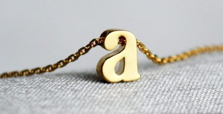 Letter Necklace Personalized Initial Necklace In Gold or Silver