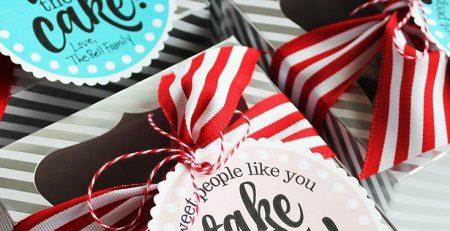 Miniature Cake Teacher Appreciation Gift Free Printable Tags