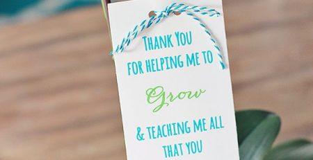 Plant Teacher Gift Idea Free Printable Poem