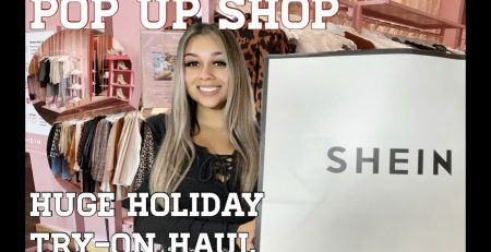 SHEIN Holiday Pop up Shop Try On Haul Gift