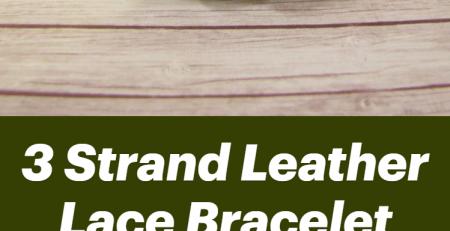 3 Strand Leather Lace Bracelet