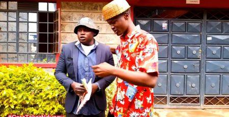 BARRY OSCAR GIVES CARETAKER NDUNGU FASHION TIPS