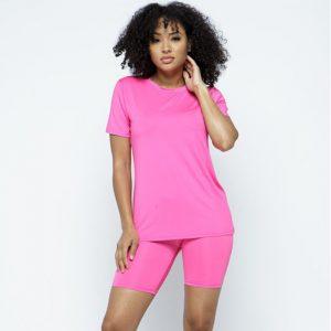 Biker Short Sets Pink