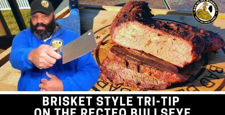 Brisket Style Tri Tip on the RT B380 Bullseye Wood Pellet Grill