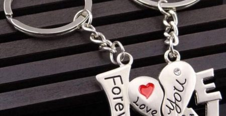 Couples Key Chain His and Hers