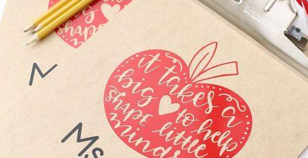 Craft DIY Vinyl Clipboard Teacher Gift Idea See Vanessa